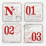 Letterpress coasters N° / 1 / 2 / 3 - MR CUP