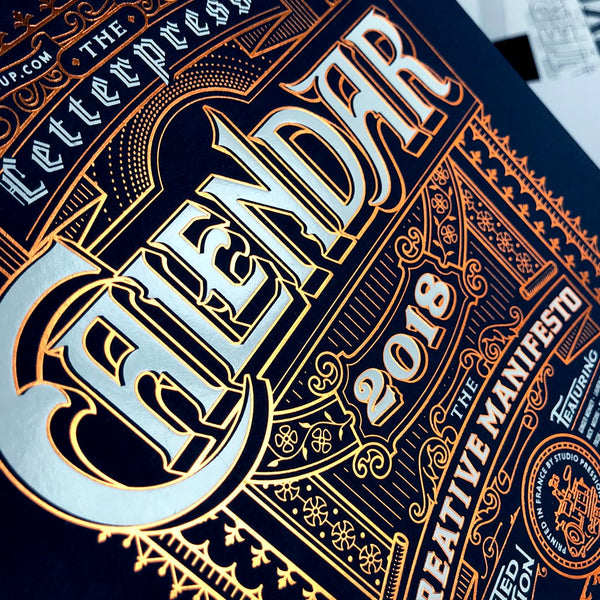 2018 letterpress calendar deluxe cover - Artist's proof - MR CUP