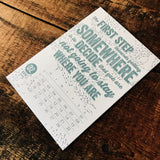 2015 letterpress calendar Artist's proof 02 - MR CUP