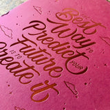 2020 letterpress calendar Artist's proof 01 - hot foil - MR CUP