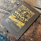 2020 letterpress calendar Artist's proof 02 - hot foil - MR CUP