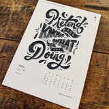 2018 letterpress calendar Artist's proof 04