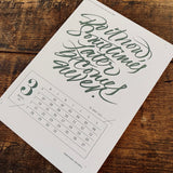 2016 letterpress calendar Artist's proof 03