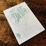 2015 letterpress calendar Artist's proof 03 - MR CUP