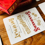 STANDARDS RED Playing Cards Deck - MR CUP