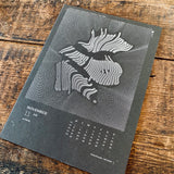 2018 letterpress calendar Artist's proof 11