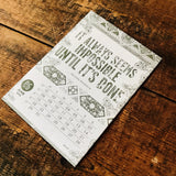 2015 letterpress calendar Artist's proof 06 - MR CUP