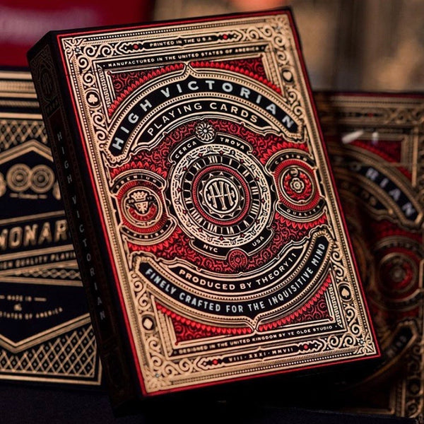 HIGH VICTORIAN - RED edition - playing cards