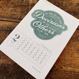 2016 letterpress calendar Artist's proof 02