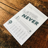 2015 letterpress calendar Artist's proof 01 - MR CUP