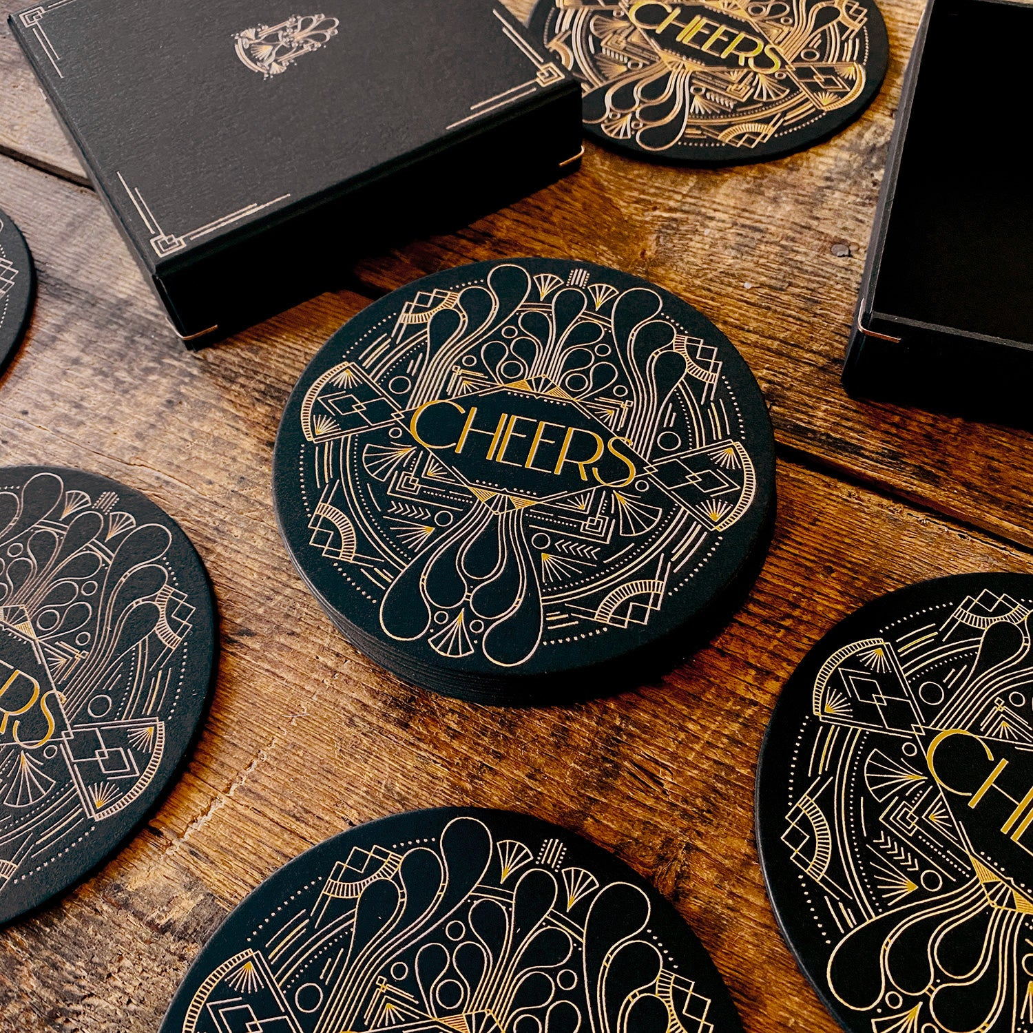 Artdeco 16 coasters box