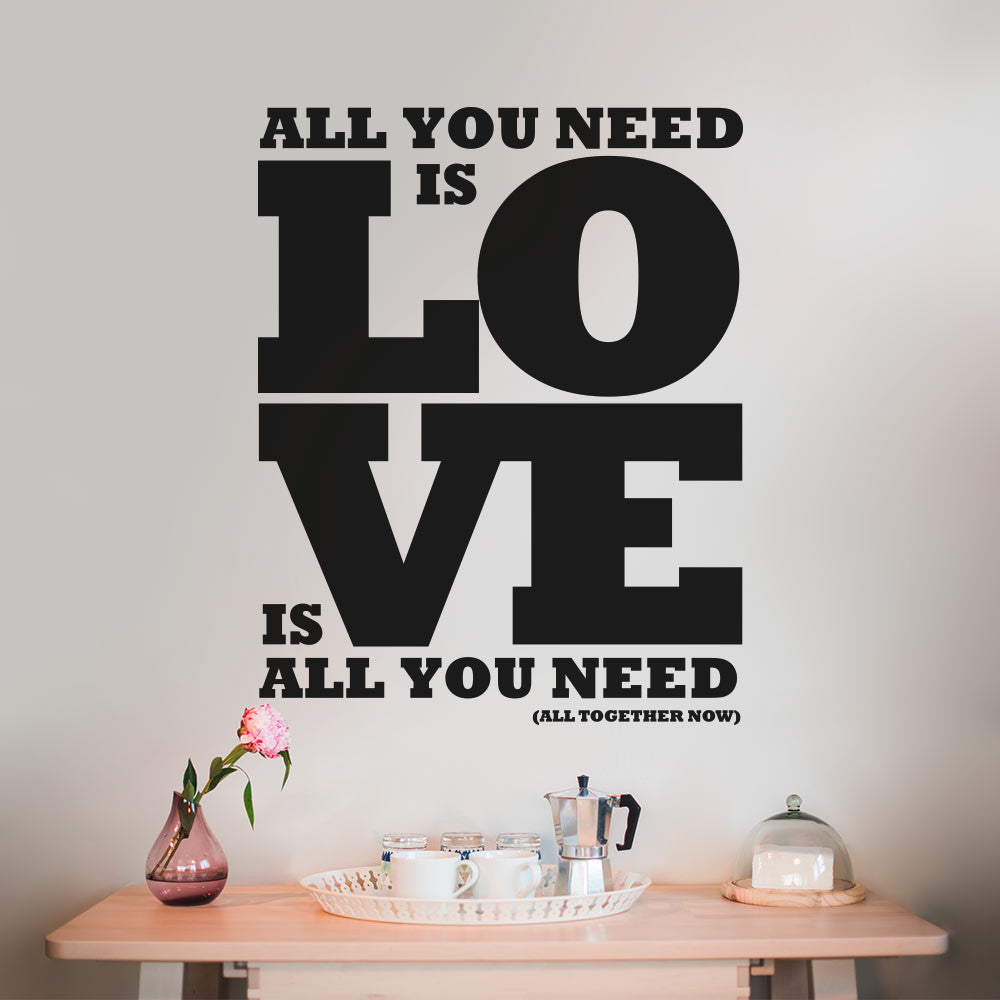 All your need is love