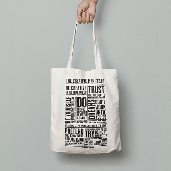The creative Manifesto Tote Bag - MR CUP