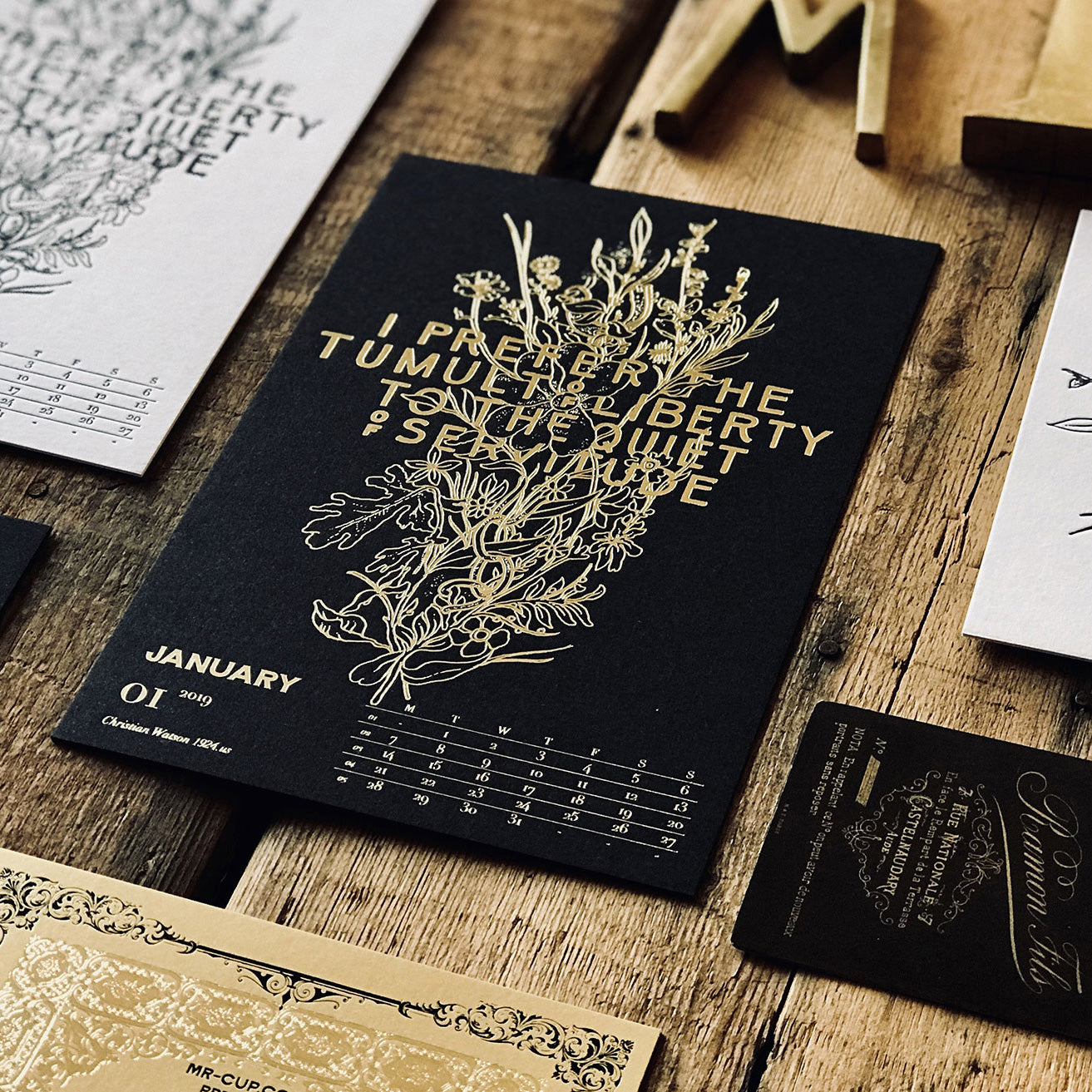 2019 LETTERPRESS CALENDAR - DELUXE edition - MR CUP