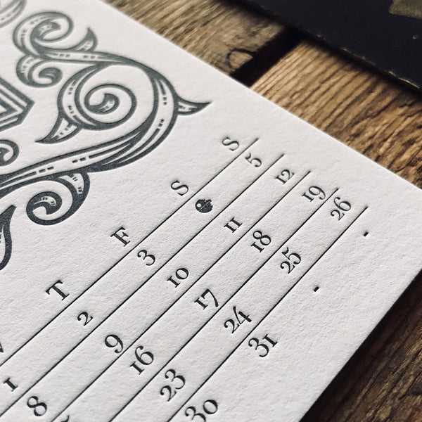 2019 LETTERPRESS CALENDAR - STANDARD edition - MR CUP