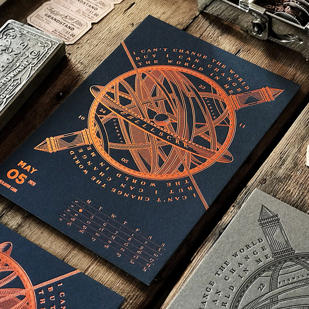 2020 LETTERPRESS CALENDAR - DELUXE edition - MR CUP
