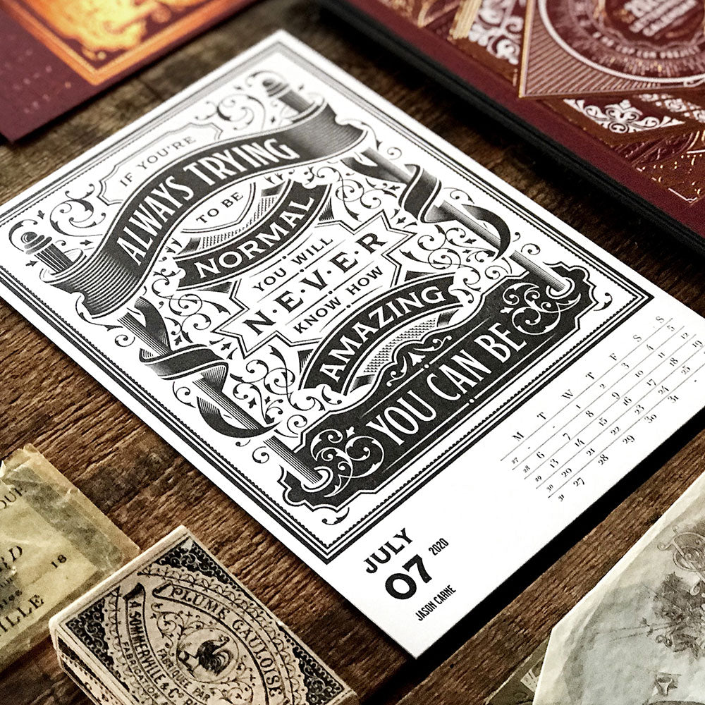 2020 LETTERPRESS CALENDAR - STANDARD edition - MR CUP