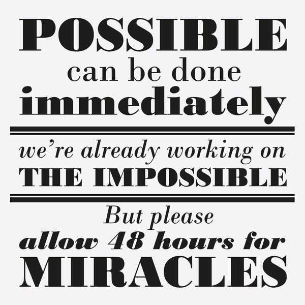 Possible Impossible Miracles - MR CUP