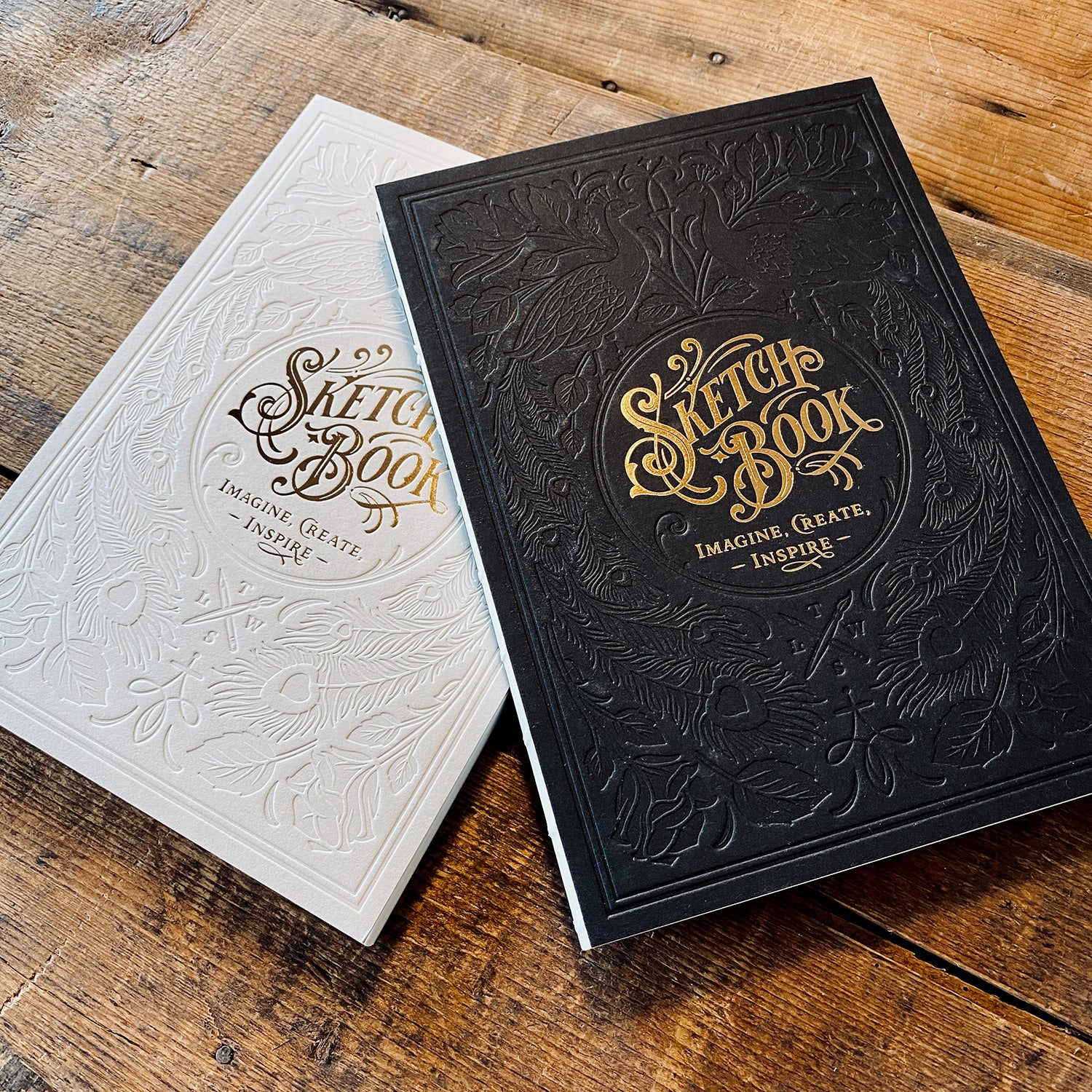 Letterpress Sketchbook set - White & Black