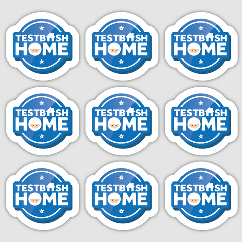 TestBash Home Mini Stickers x9