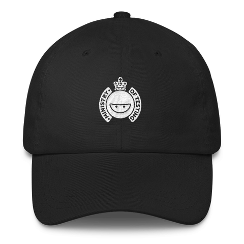 Ministry of Testing Classic Cap - White Logo