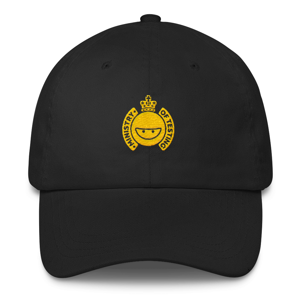 Ministry of Testing Classic Cap - Gold Logo