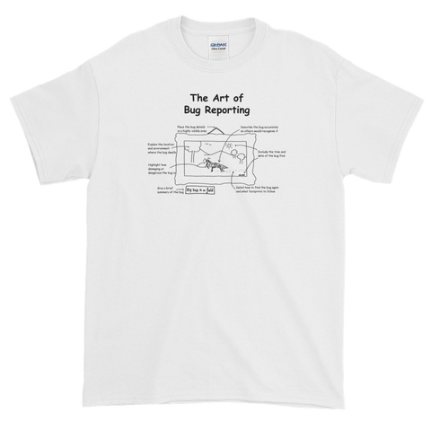T-Shirt - Cartoon Tester - Art of Bug Reporting - Unisex