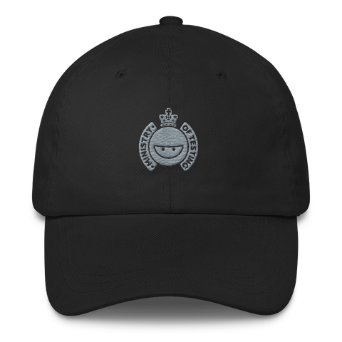 Ministry of Testing Classic Cap - Silver Logo