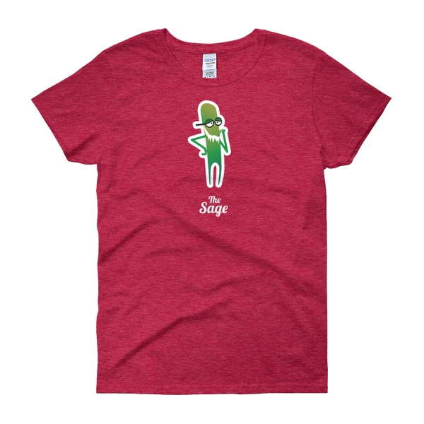 T-Shirt - Testers Types - Sage - Women's