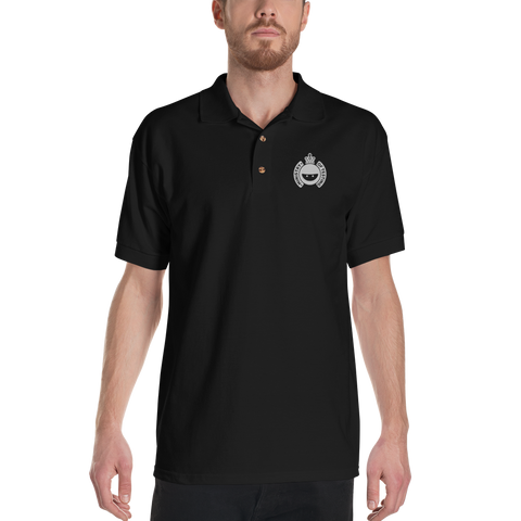 Black Polo Shirt - Embroidered MoT Logo - Men's