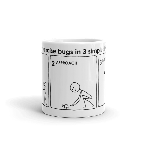 Raising Bugs Mug by Andy Glover