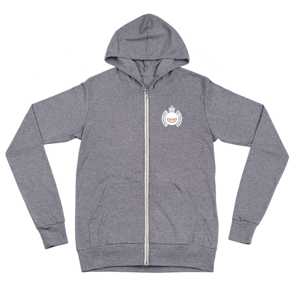 Unisex Zip Hoodie - MoT Logo White - Various Colours