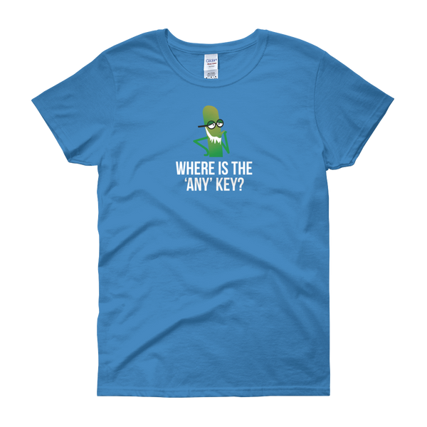 T-Shirt - Where is the 'Any' Key with Character - Women's