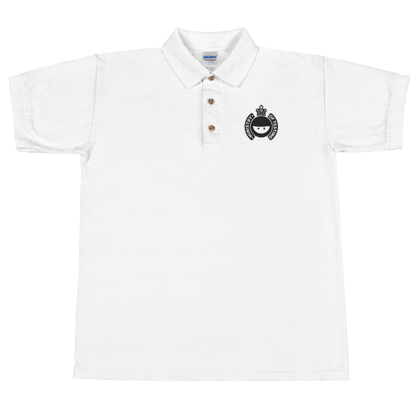 White Polo Shirt - Embroidered MoT Logo - Men's