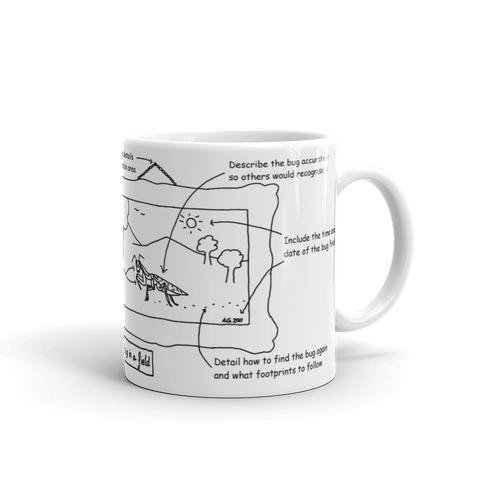 Art of Bug Reporting Mug by Andy Glover
