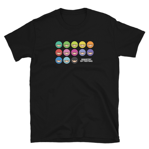 T-Shirt - MoT Logo Rainbow - Unisex - Black / Grey