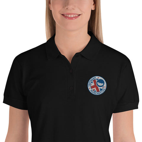 Black Polo Shirt - TestBash Manchester - Women's