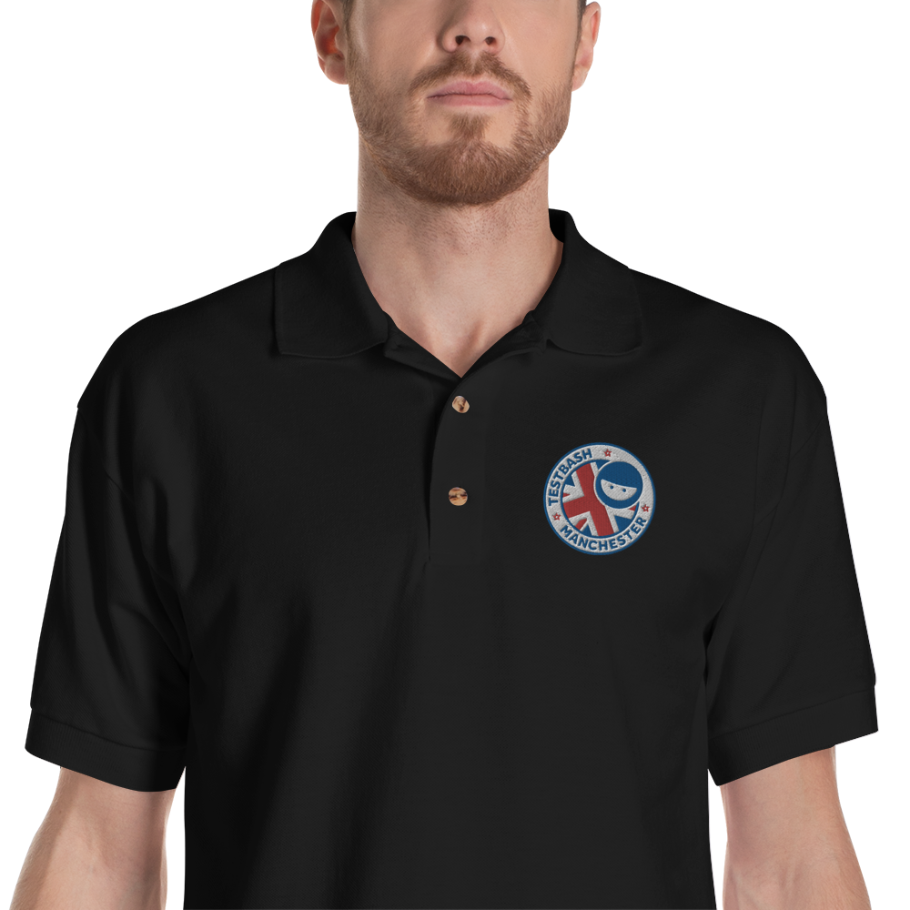 Black Polo Shirt - TestBash Manchester - Men's