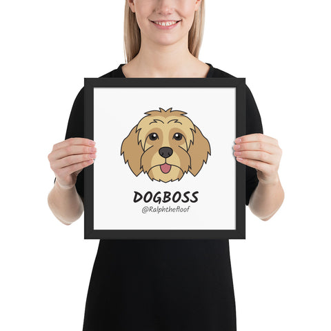 DogBoss - Framed Poster