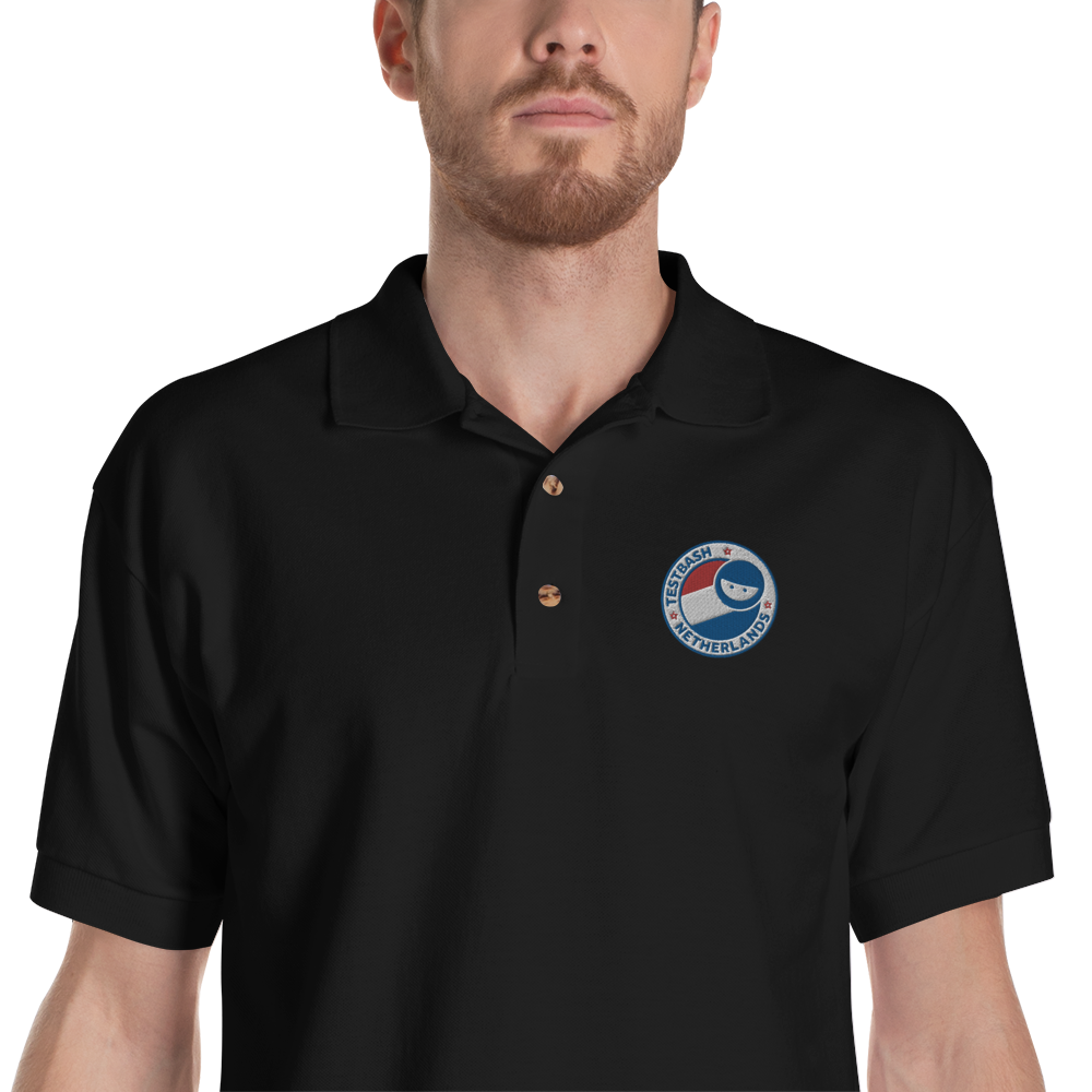 Black Polo Shirt - TestBash Netherlands - Men's