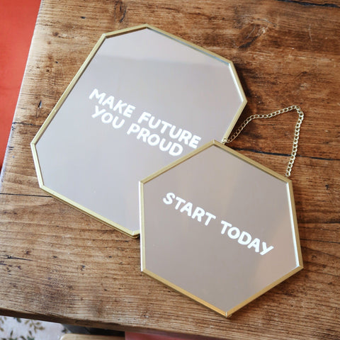 Make Future You Proud Mirror Decal