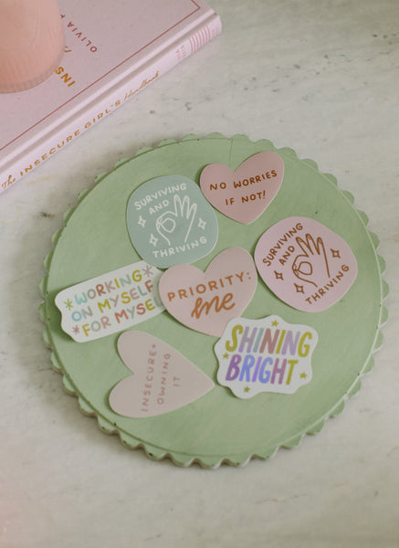 Surviving And Thriving (Pink) Sticker Stickers sighh