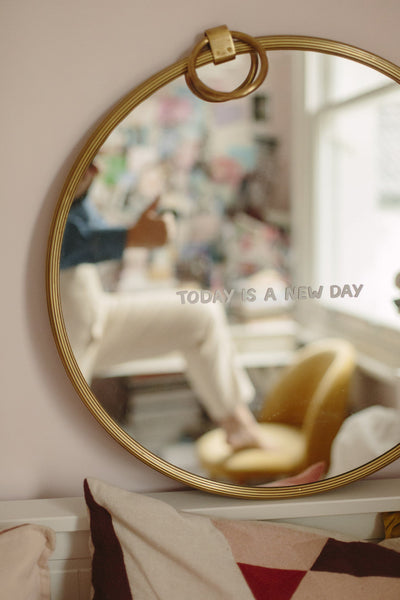 Today Is A New Day Mirror Decal