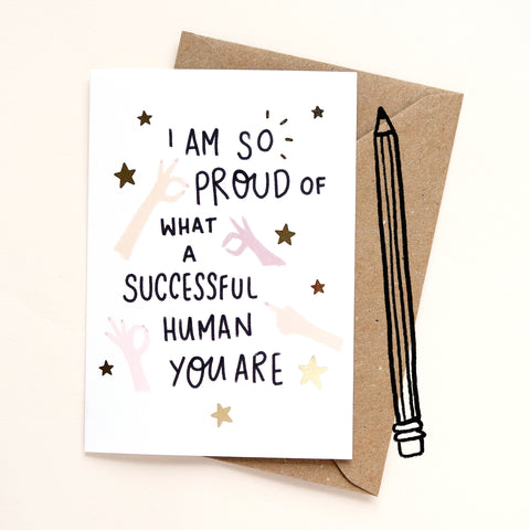 Successful Human Greetings Card