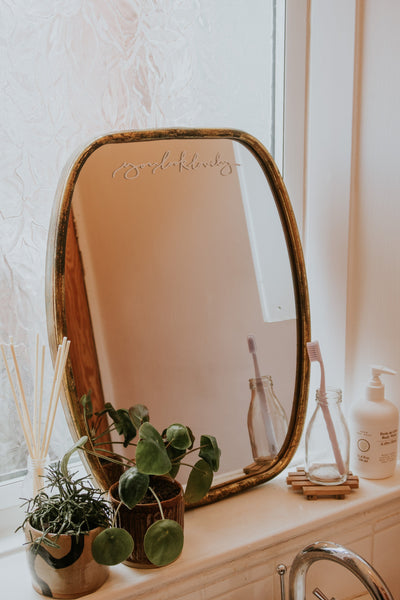Cursive You Look Lovely Mirror Decal