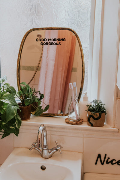 Good Morning Gorgeous Mirror Decal