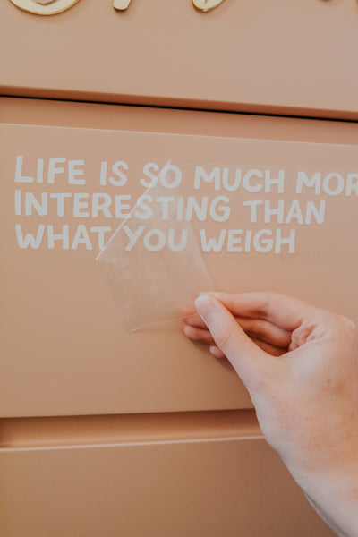 Life Is More Interesting Mirror Decal