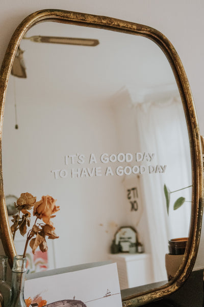 Good Day Mirror Decal