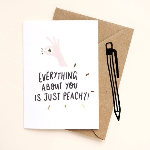 Just Peachy Greetings Card