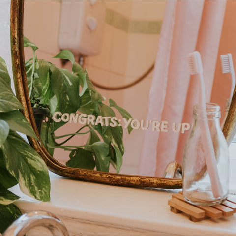 Congrats: You're Up Mirror Decal